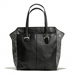 TAYLOR MIXED LEATHER NORTH/SOUTH TOTE - f23303 - 26796