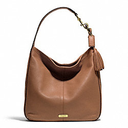 COACH AVERY LEATHER HOBO - BRASS/BRITISH TAN - F23309