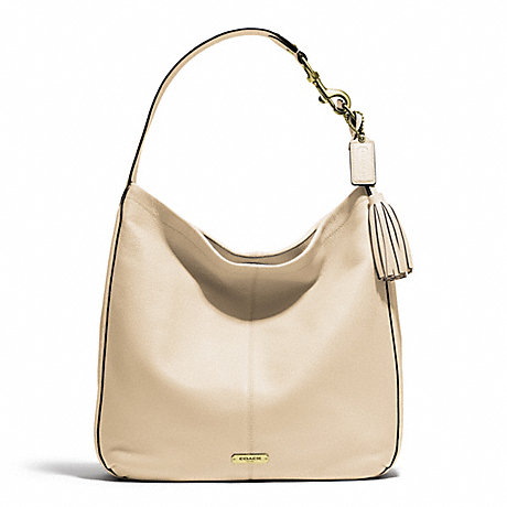COACH AVERY LEATHER HOBO - BRASS/STONE - f23309