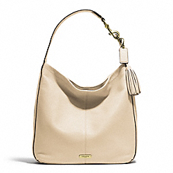 AVERY LEATHER HOBO - f23309 - BRASS/STONE