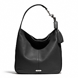 COACH AVERY LEATHER HOBO - SILVER/BLACK - F23309