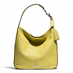 COACH AVERY LEATHER HOBO - SILVER/CHARTREUSE - F23309