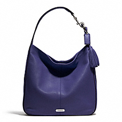 COACH AVERY LEATHER HOBO - SILVER/INDIGO - F23309