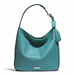 COACH AVERY LEATHER HOBO - SILVER/MINERAL - F23309