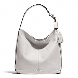 COACH AVERY LEATHER HOBO - SILVER/PEARL - F23309
