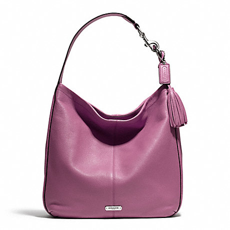 COACH f23309 AVERY LEATHER HOBO SILVER/ROSE