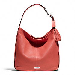 COACH AVERY LEATHER HOBO - SILVER/SIENNA - F23309