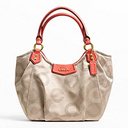 COACH ASHLEY DOTTED OP ART TOTE - ONE COLOR - F23311
