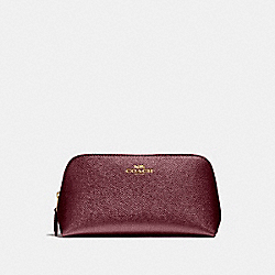 COSMETIC CASE 17 - LIGHT GOLD/METALLIC CHERRY - COACH F23332