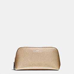 COSMETIC CASE 17 - LIGHT GOLD/PLATINUM - COACH F23332