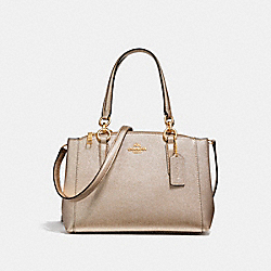COACH MINI CHRISTIE CARRYALL - LIGHT GOLD/PLATINUM - F23337