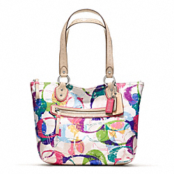 POPPY STAMPED C SMALL TOTE COACH F23372