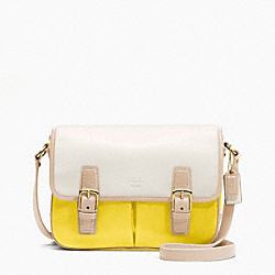COACH COLOR BLOCK LEATHER CROSSBODY FLAP - ONE COLOR - F23383