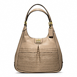 COACH MADISON WOVEN MAGGIE - BRASS/TAUPE - F23385