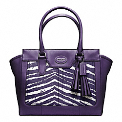 COACH ZEBRA PRINT MEDIUM CANDACE CARRYALL - ONE COLOR - F23409