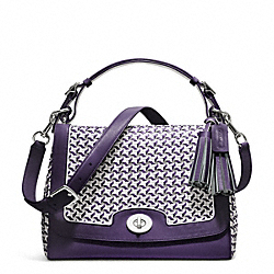 COACH CANING LEATHER ROMY TOP HANDLE - ONE COLOR - F23411