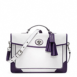 COACH ARCHIVAL TWO TONE SLIM BRIEFCASE - ONE COLOR - F23417