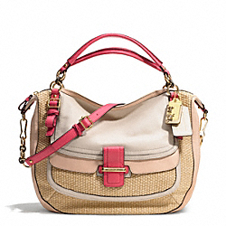 COACH MADISON PINNACLE STRAW EVA SATCHEL - ONE COLOR - F23426