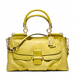 COACH MADISON PINNACLE EMBOSSED METALLIC PYTHON CARRIE SATCHEL - ONE COLOR - F23433
