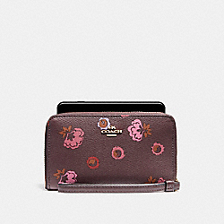 PHONE WALLET WITH PRIMORSE FLORAL PRINT - IMFCG - COACH F23450