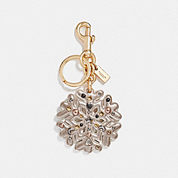 STARDUST STUDS SNOWFLAKE BAG CHARM - GOLD/PLATINUM-CHAMPAGNE - COACH F23452