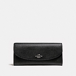 SLIM ENVELOPE WALLET WITH WILD PLAID PRINT - SVMRT - COACH F23453