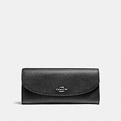 SLIM ENVELOPE WALLET WITH WILD PLAID PRINT - SVMRW - COACH F23453