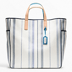COACH WEEKEND BEACH WOVEN PARRISH TOTE - ONE COLOR - F23476