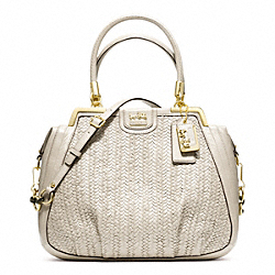 COACH MADISON PINNACLE WOVEN LILLY - GOLD/PARCHMENT - F23489