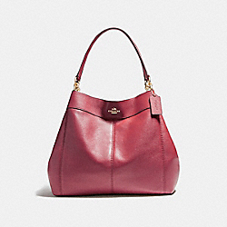 COACH LARGE LEXY SHOULDER BAG - LIGHT GOLD/CRIMSON - F23511