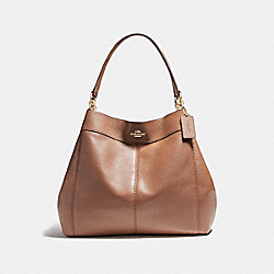 COACH LARGE LEXY SHOULDER BAG - LIGHT GOLD/SADDLE 2 - F23511