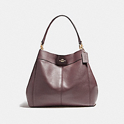 COACH LARGE LEXY SHOULDER BAG - LIGHT GOLD/OXBLOOD 1 - F23511