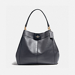 COACH LARGE LEXY SHOULDER BAG - LIGHT GOLD/MIDNIGHT - F23511
