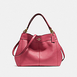 COACH SMALL LEXY SHOULDER BAG - LIGHT GOLD/ROUGE - F23537