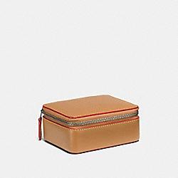 ACCESSORY BOX IN COLORBLOCK - LIGHT SADDLE/DARK GUNMETAL - COACH F23540