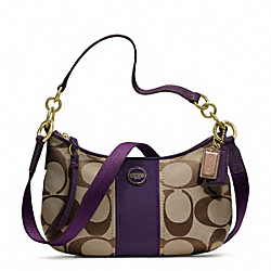 COACH SIGNATURE STRIPE DEMI CROSSBODY - ONE COLOR - F23544