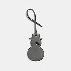 SNOWMAN ORNAMENT - METALLIC GRAPHITE - COACH F23560