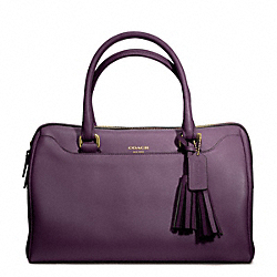 LEATHER HALEY SATCHEL - f23574 - BRASS/BLACK VIOLET