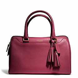 COACH LEATHER HALEY SATCHEL - BRASS/DEEP PORT - F23574