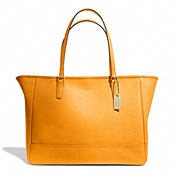 COACH SAFFIANO MEDIUM CITY TOTE - BRASS/MARIGOLD - F23576