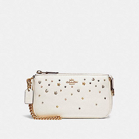 COACH LARGE WRISTLET 19 WITH STARDUST STUDS - LIGHT GOLD/CHALK - f23595