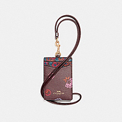 COACH ID LANYARD WITH PRIMROSE MEADOW PRINT - IMFCG - F23634