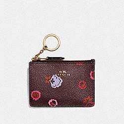 COACH MINI SKINNG ID CASE WITH PRIMROSE MEADOW PRINT - IMFCG - F23636