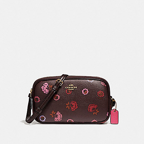 COACH f23643 CROSSBODY POUCH WITH PRIMROSE PRINT IMFCG