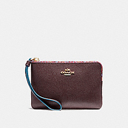 COACH CORNER ZIP WRISTLET WITH EDGEPAINT - IMFCG - F23644