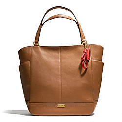 COACH PARK LEATHER NORTH/SOUTH TOTE - BRASS/BRITISH TAN - F23662