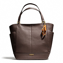 COACH PARK LEATHER NORTH/SOUTH TOTE - BRASS/MAHOGANY - F23662