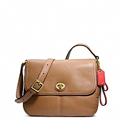 COACH PARK LEATHER VIOLET - BRASS/BRITISH TAN - F23663
