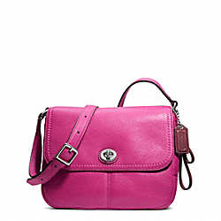 COACH PARK LEATHER VIOLET CROSSBODY - SILVER/BRIGHT MAGENTA - F23663