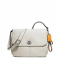 COACH PARK LEATHER VIOLET CROSSBODY - SILVER/PARCHMENT - F23663